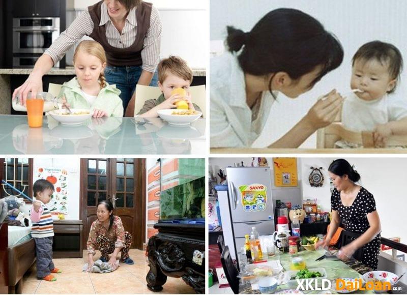 Tuyển nữ làm lao động giúp việc tại Đài Loan